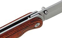 Нож складной  с деревянными накладками, нержавеющая сталь, легкий и компактный, для широкого спектра задач