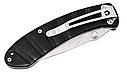 Нож складной с изогнутой рукоятью обтекаемой формы, исключительно стойкой к ржавчине, оснащен съемной клипсой, фото 3