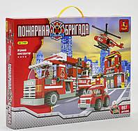 """Конструктор AUSINI 21901 """"Пожарная станция"""" 697 деталей"""