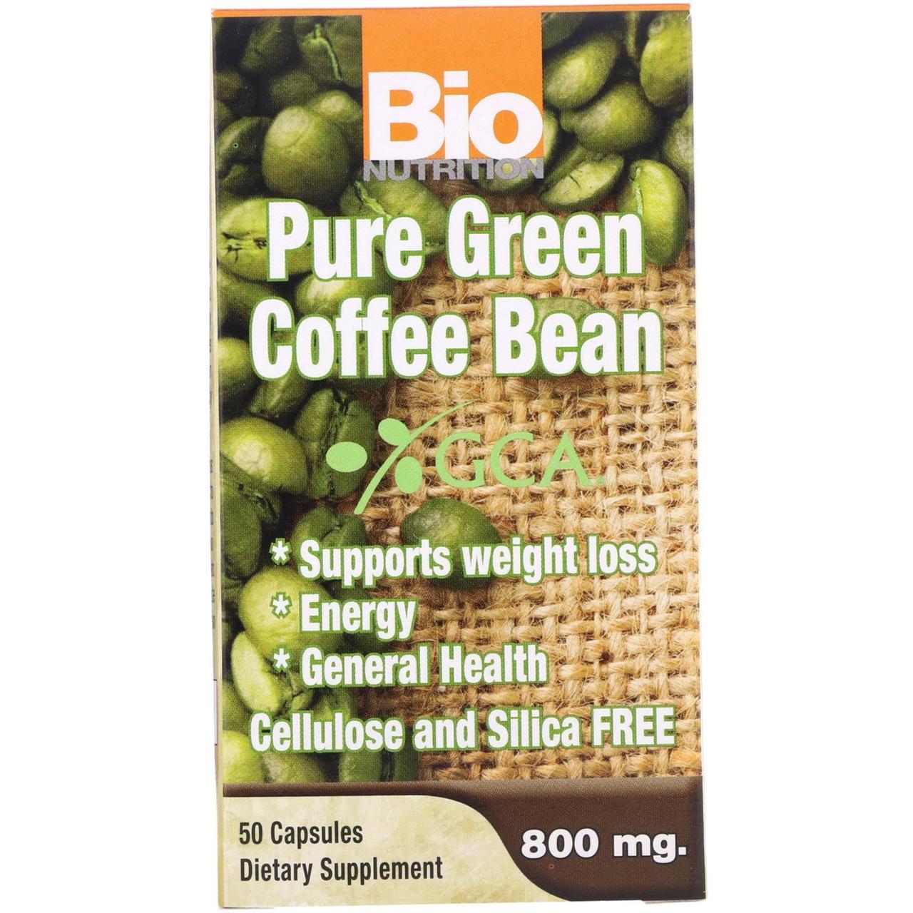 Экстракт зеленого кофе, Bio Nutrition, 800 мг, 50 кап.