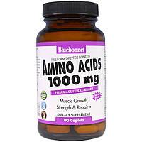 BCAA, Bluebonnet Nutrition, 1000 мг, 90 кап.