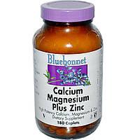 Кальций и магний, цинк, Bluebonnet Nutrition, 180 кап.