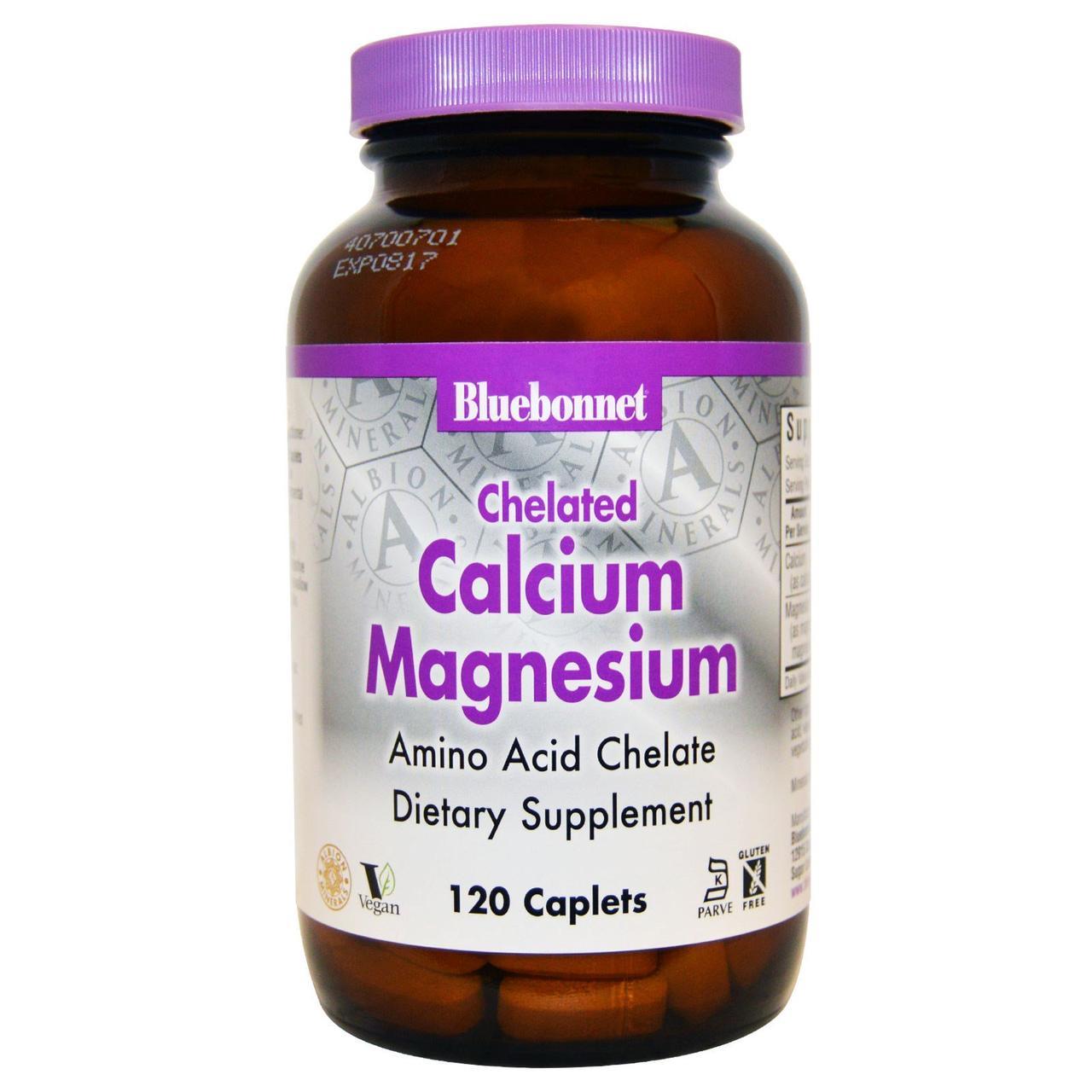 Кальций и магний, Bluebonnet Nutrition, 120 кап.