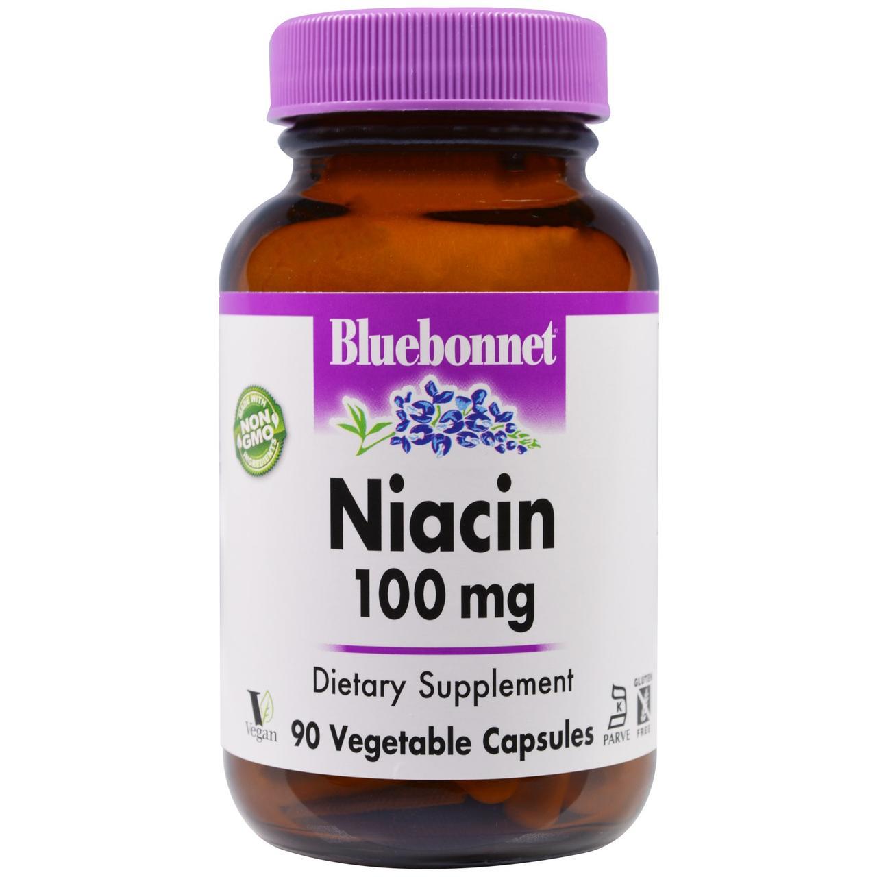 Витамин В3 (ниацин), Bluebonnet Nutrition, 90 кап.