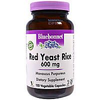 Красный дрожжевой рис, Red Yeast Rice, Bluebonnet Nutrition, 120 капсул