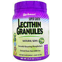 Лецитин, Lecithin Granules, Bluebonnet Nutrition, Гранулы, 908г