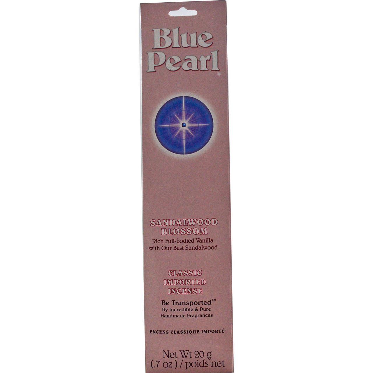 Натуральные классические благовония с ароматом сандалового дерева,  Blue Pearl, 20 г