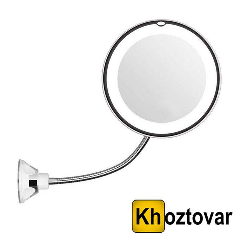 Гибкое зеркало на присоске с подсветкой и 5x увеличением Ultra Flexible Mirror 5X