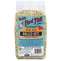 Овсяные хлопья (экстра плотные), Rolled Oats, Bob's Red Mill, 453 г