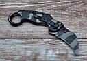 Серповидный нож - керамбит камуфляж складной, тренировочный карамбит, отличный подарок, фото 4