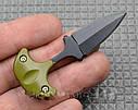 Нож тычок пуш даггер + чехол рукоять пластик, клинок стальной качественный нож тычковый, фото 4