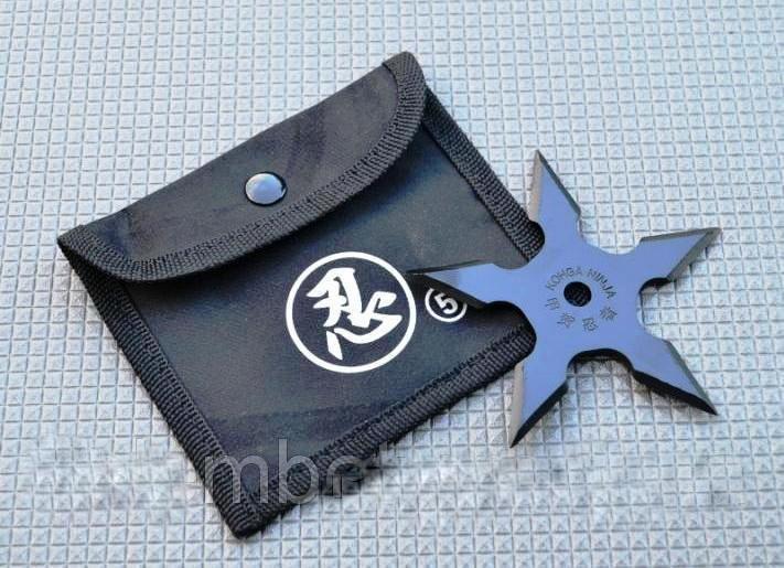 Нож - звезда метательный набор 3 шт для метания + чехол, (пятиконечная) иглообразная пластина для метания
