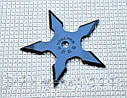Нож - звезда метательный набор 3 шт для метания + чехол, (пятиконечная) иглообразная пластина для метания, фото 3