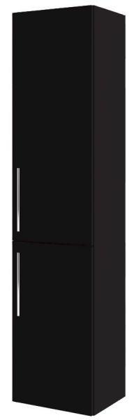Пенал Aquaform Amsterdam чёрный с полочками (0415-202911), 400х320х1700 мм - интернет-магазин сантехники Aquastyle в Одессе