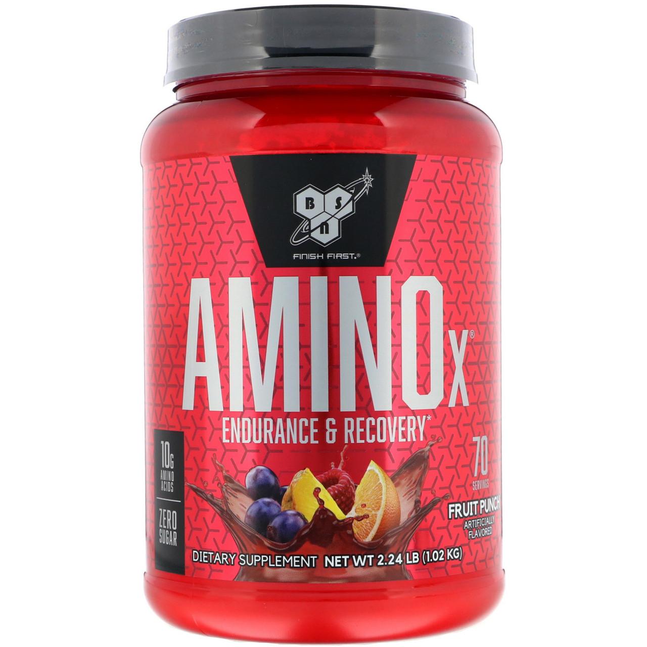 BSN, Amino-X, витривалість і відновлення, фруктовий пунш, 2,23 фунта (1,01 кг)