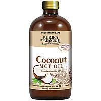 Кокосовое масло холодного отжима, Coconut Oil, Buried Treasure, 473 мл