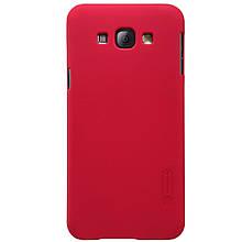 Чехол накладка Nillkin Super Frosted для Samsung Galaxy A8 A800H красный