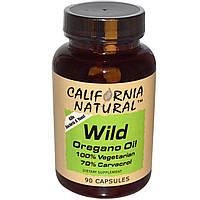 Масло дикого орегано (Wild Oregano Oil), California Natural, 90 капсул