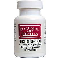 Экологические формулы, уридин-300, Cardiovascular Research Ltd., 60 капсул