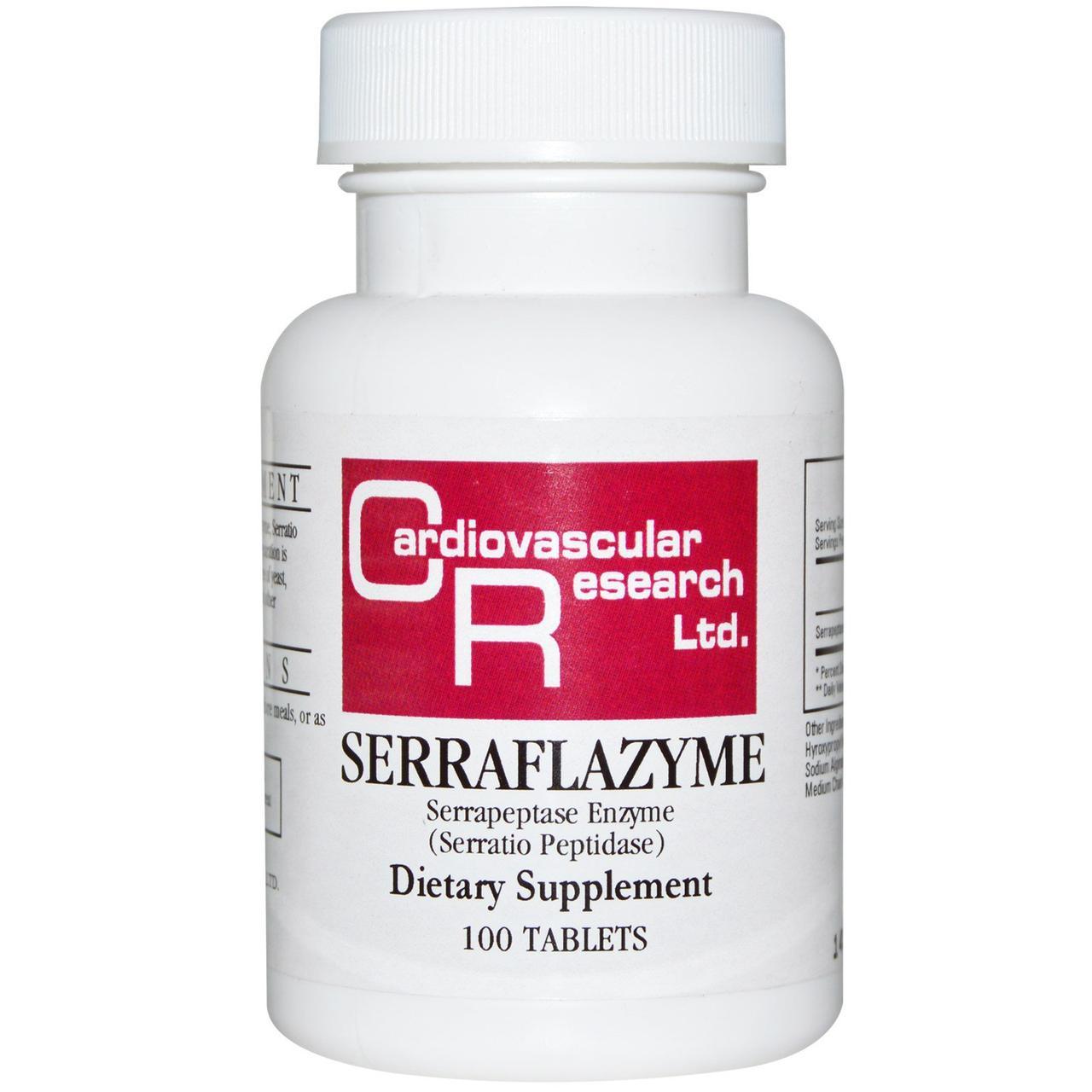 Серрафлазим, Cardiovascular Research Ltd., 100 таблеток.