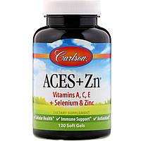 Вітаміни А, С, Е плюс цинк, Carlson Labs, 120 капсул