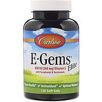 Вітамін Е, Carlson Labs, Еліт, 400 МО, 120 капсул