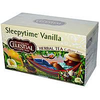 Celestial Seasonings, Трав'яний чай, Sleepytime Vanilla, без кофеїну, 20 пакетиків, 1,0 унції (29 г)