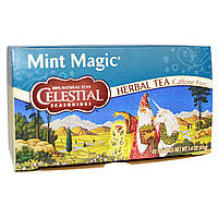 Celestial Seasonings, Травяные чаи мятная магия, без кофеина, 20 пакетиков 1.4 унции (41 г)