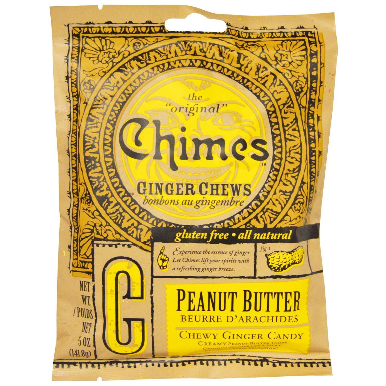 Chimes, Імбирні жувальні цукерки, арахісове масло, 5 oz (141,8 г)