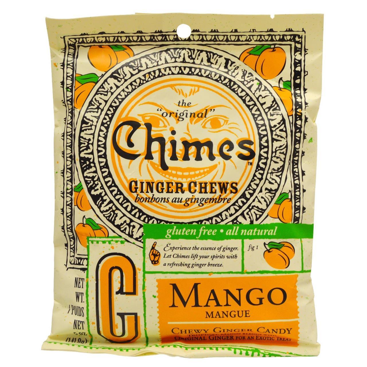 Имбирные жевательные конфеты с манго, Ginger Chews, Chimes, 141,8 г