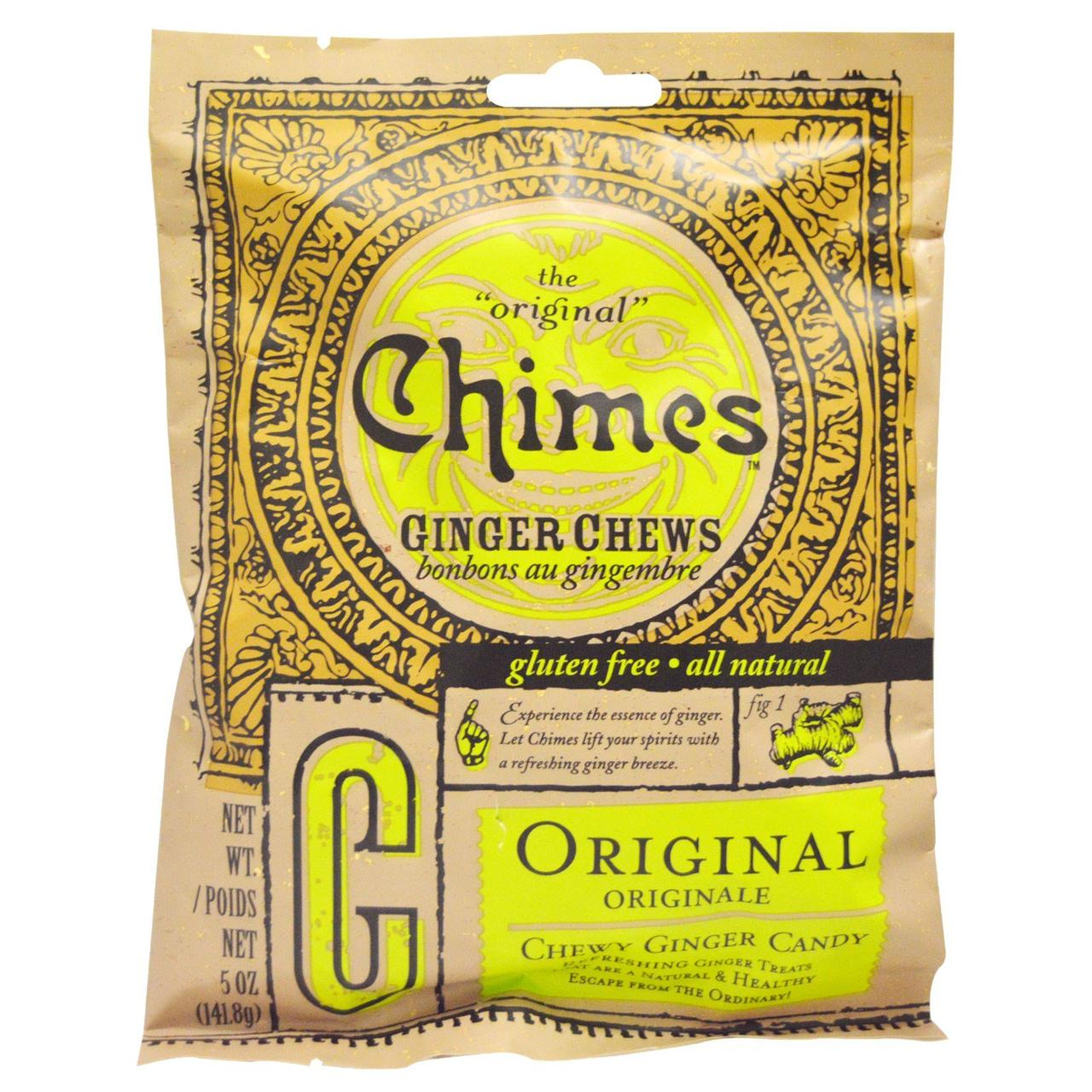 Имбирные жевательные конфеты,Ginger Chews,  Chimes, 141,8 г