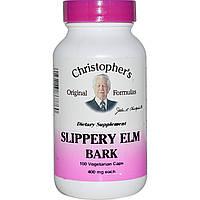Кора скользкого вязя, Christopher's Original Formulas, 400 мг, 100 кап.
