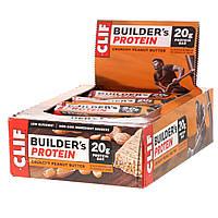 Clif Bar, Протеиновый батончик Builder's, 20 г, хрустящее арахисовое масло, 12 баточников, по 68 г (2,4 унции) каждый, фото 1