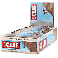 Clif Bar, Енергетичні батончики з кокосом і шматочками шоколаду, 12 батончиків, 2,4 унцій (68 м) кожен, фото 1
