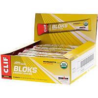 Clif Bar, Жевательные леденцы Shot Bloks Energy, вкус маргариты + кофеин, 18 пакетиков по 60 г