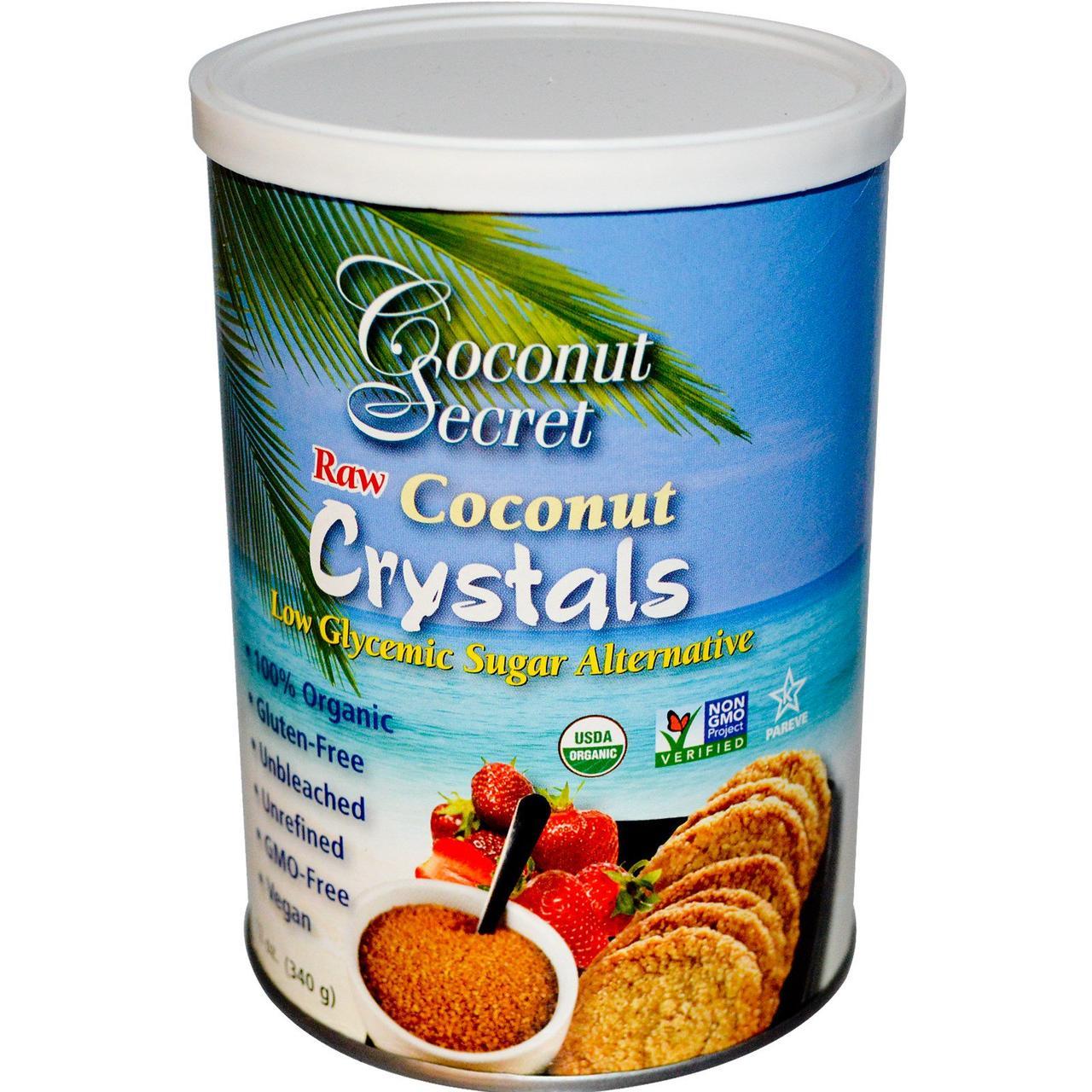 Кокосовый сахар, Coconut Crystals, Coconut Secret, 340 г
