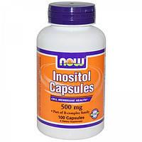Инозитол  500 мг 100 капс Витамины для волос, лечение алопеции  Now Foods USA