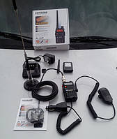 Радиосвязь портативными радиостанциями из автомобиля.