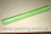 Светло-оливковый простой флизелин для упаковки цветов и подарков (15 метров)