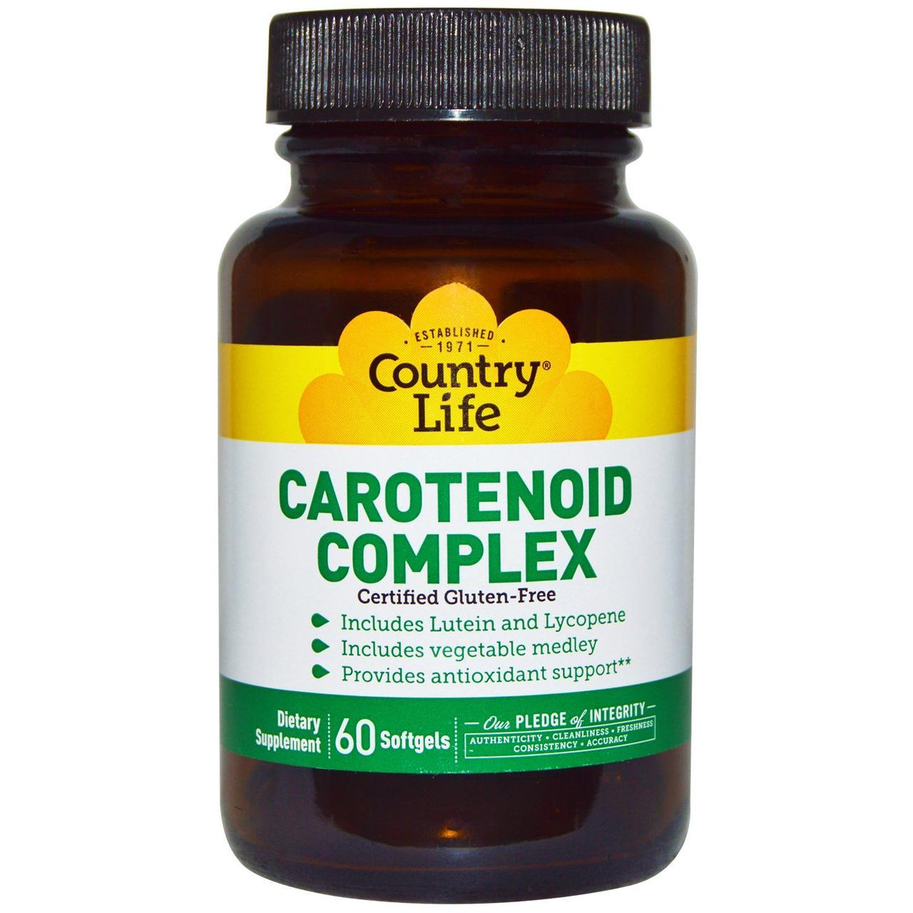 Комплекс каротиноидов, Carotenoid Complex, Country Life, 60 кап.