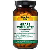 Ресвератрол (Grape Complete), Country Life, 90 капсул