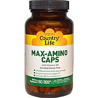 Амінокислоти з вітаміном В6, Max-Amino Caps, Country Life, 180 кап.