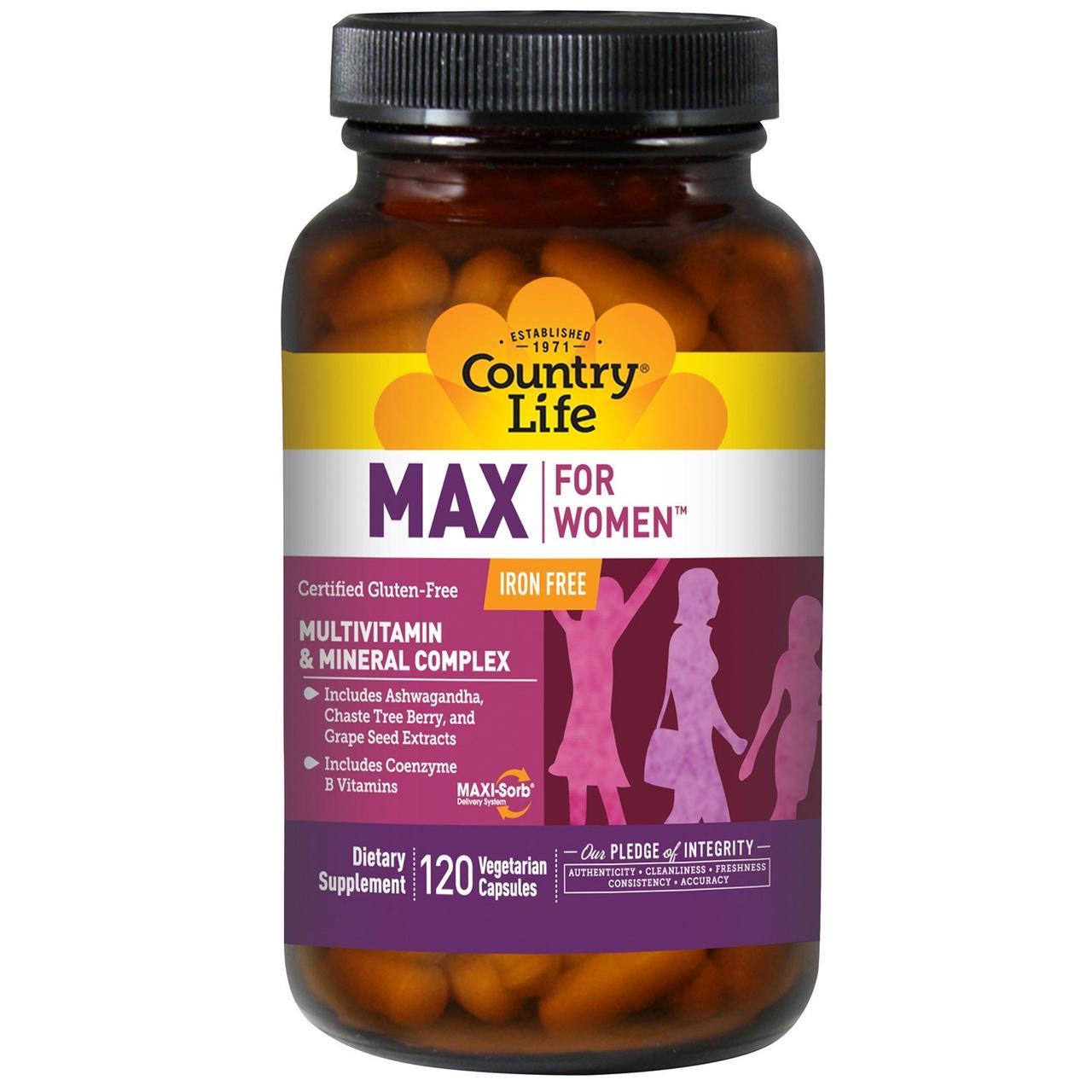 Мультивитамины для женщин, Multivitamin & Mineral, Country Life, 120 кап.