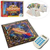 KMM3801 Настольная игра M 3801  Монополия, игр.поле,фишки, карточ, терминал,зв,на бат,в кор,39-27-5см