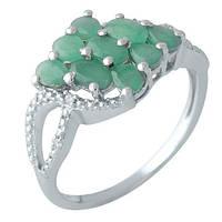 Серебряное кольцо с изумрудом (19,5)