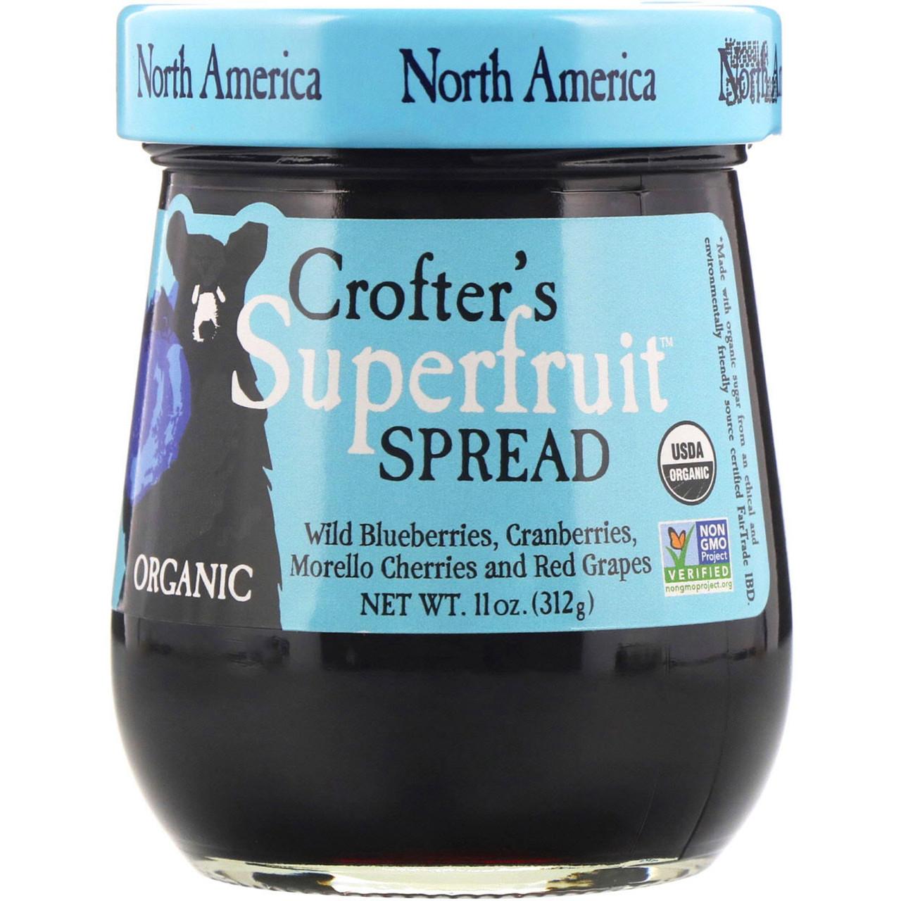 Crofter's Organic, Organic, Superfruit Spread, джем из супер-фруктов, Северная Америка, 11 унций (312 г)