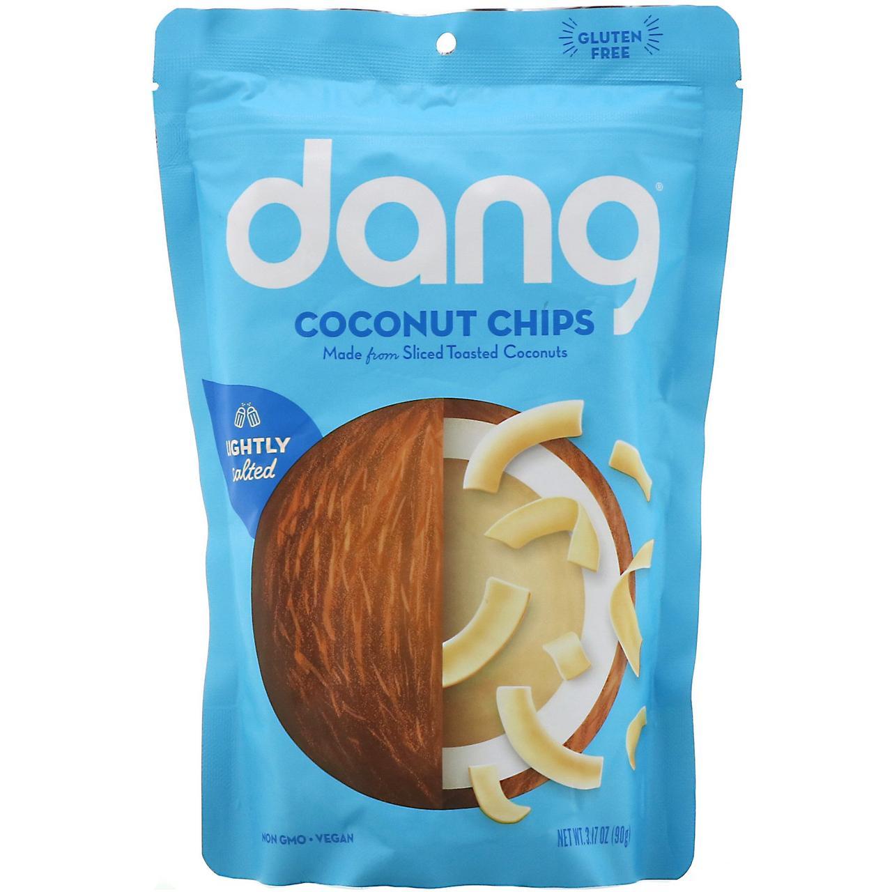 Малосольная кокосовая стружка, Toasted Coconut Chips, Dang Foods LLC, 90 г