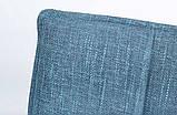 Стул поворотный MADRID рогожка темно-голубой (бесплатная доставка), фото 3