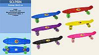 Скейт SC17024 металл.крепления, колёса PU свет, 56*15 см.