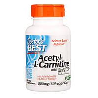 Ацетил -L карнитин, Doctors Best, 588 мг, 60 капсул